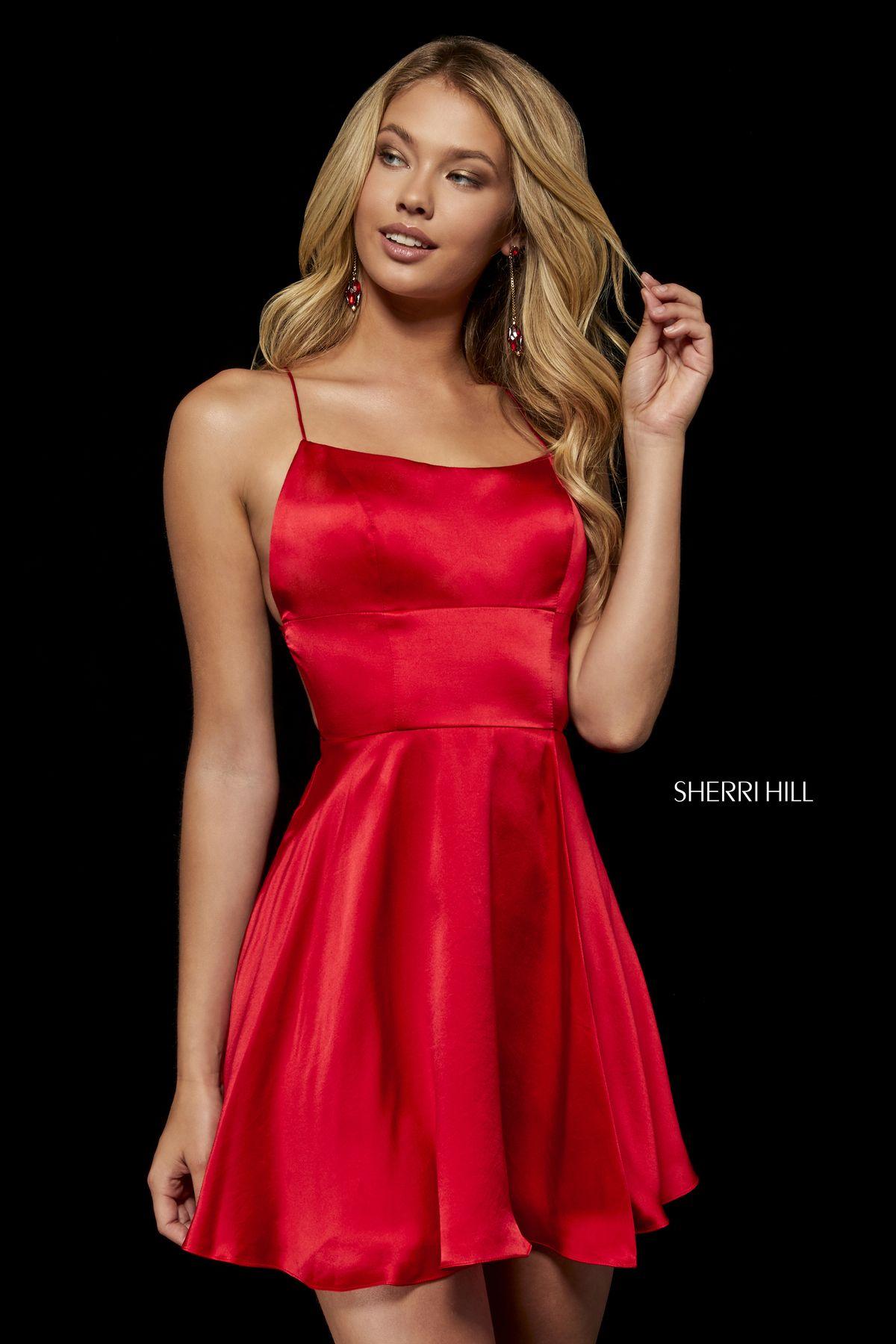 c529a6bc324 Style  52156 – Sherri Hill. Style  52156 – Sherri Hill Emerald Homecoming  Dress ...