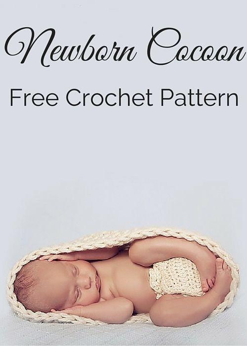 Free Newborn Cocoon Crochet Pattern | Mantas para bebes, Babo y Para ...