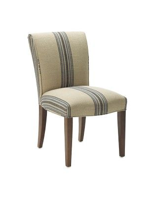 Fitzgerald Upholstered Side Chair Rustic Yacht Stripe