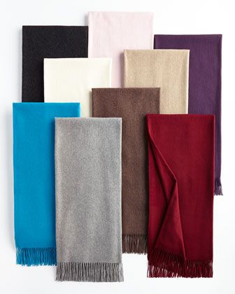 Fringed Cashmere Throw by Sofia Cashmere at Horchow.