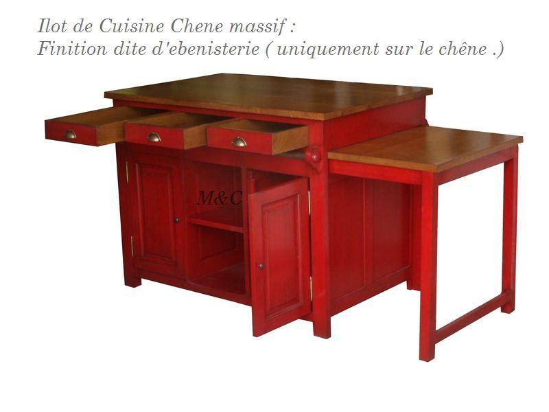 lot de cuisine ilot central en chne table coulissante cuisine. Black Bedroom Furniture Sets. Home Design Ideas