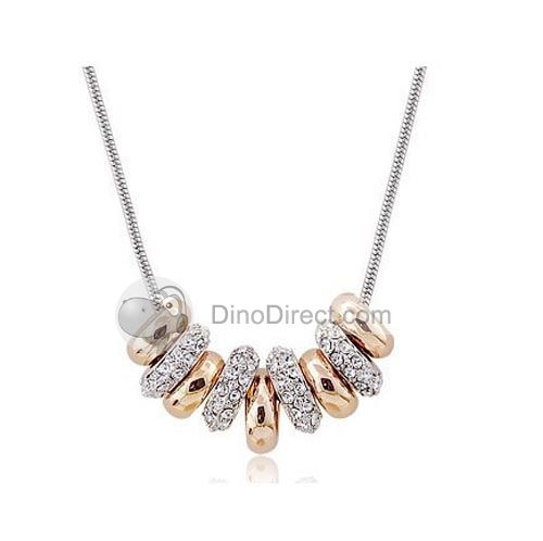 JPF™  Women Crystal Rings Pendant Necklace