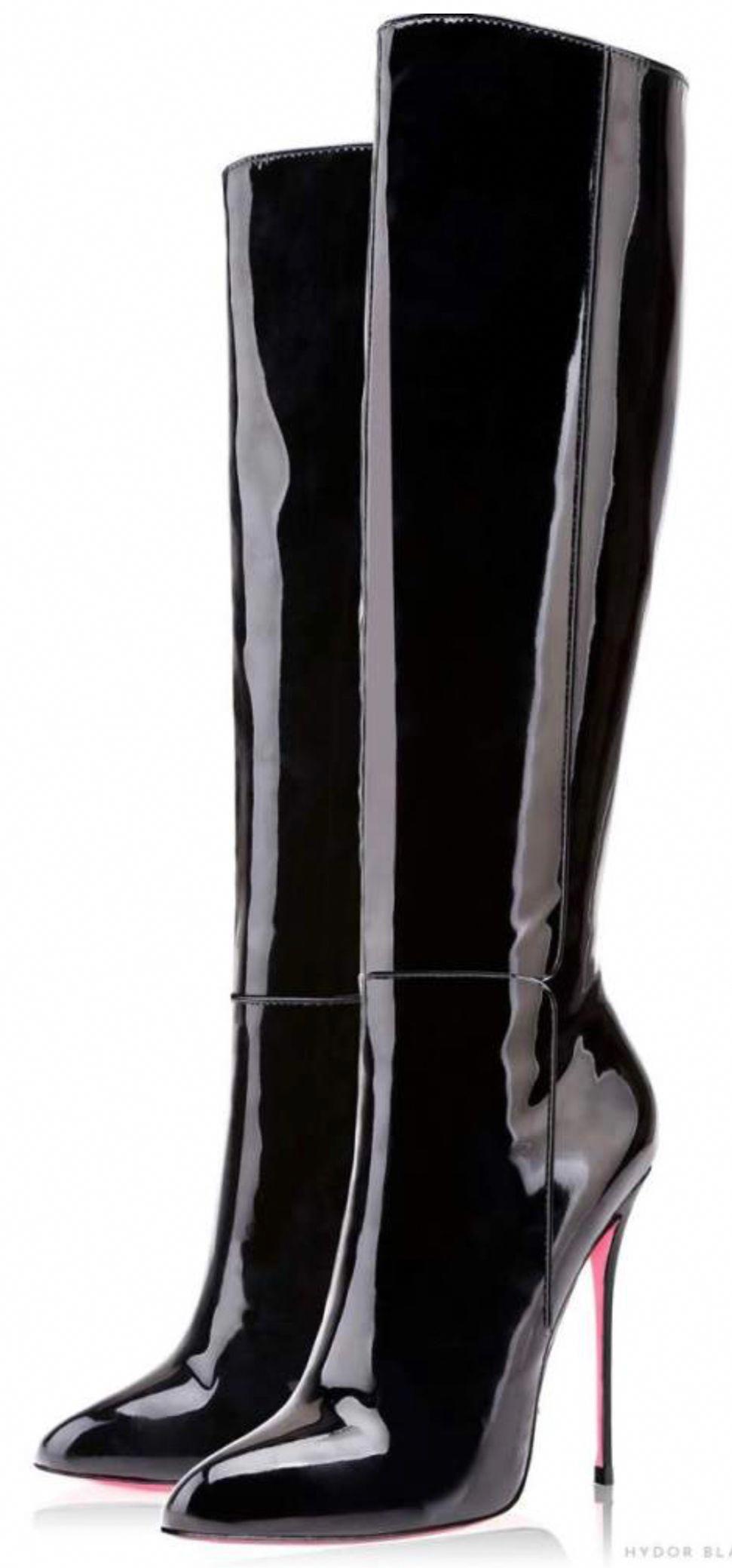 64d4936cdedd Casadei black patent leather stiletto boots stilettoheels extreme jpg  971x2079 Boots black patent stiletto