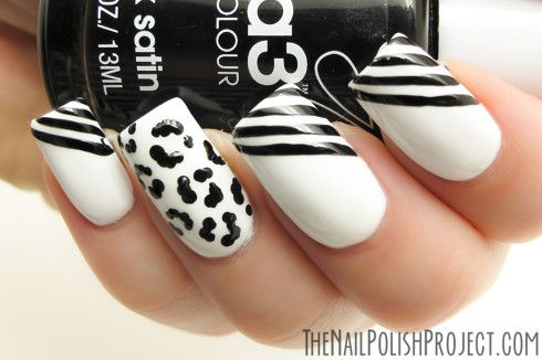 20130906 31DC2013 Day 7 Black and White Nails IMG 8777 copy 490x326 31DC2013: Day 7 Black & White Nails