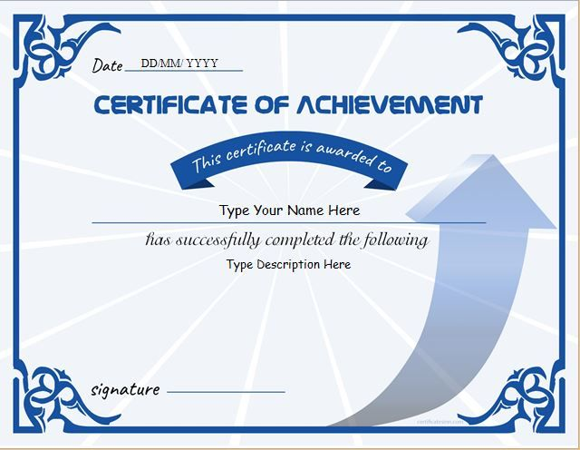 Certificate of Achievement DOWNLOAD at    certificatesinn - certificates of recognition templates