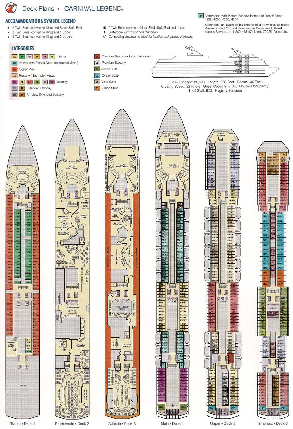 carnival legend deck plans - Google Search | Cruising in 2019 ... on