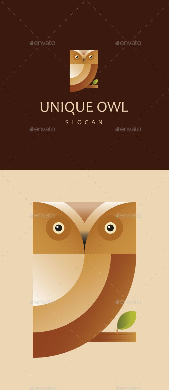 Unique Owl  — EPS Template • Only available here ➝…