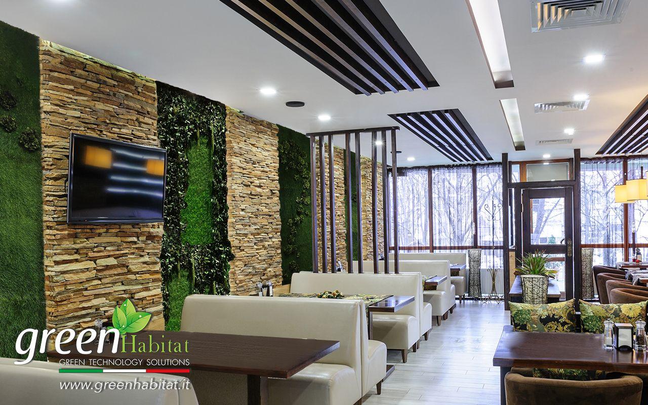 Arredo Giardino Per Bar.Ristorante Bar Verde Verticale Giardino Verticale Arredo Con