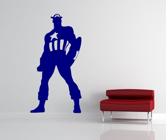 Captain america shield fabric wall decal 25 Captain america wall decor