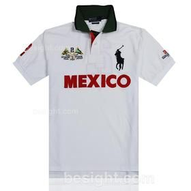 Polo Ralph Lauren Men's Big Pony Mexico PRL Cup Short Sleeve Polo Shirt –  White