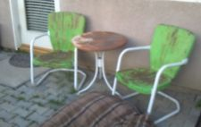 40s 50s Vintage Lawn Chairs And Table Lawn Chairs Metal Lawn Chairs Metal Chairs