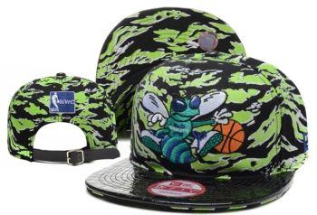 Casquette NBA New Orleans Hornets Snapback Vert Noir Casquette New Era Pas Cher