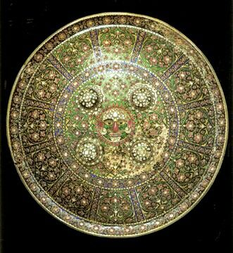 Mughal Shield Rubies Diamonds Emeralds Rock Crystal Agate Chalcedony On Hammered Silver Sheet India Royal Jewels Jewels Diamond Are A Girls Best Friend