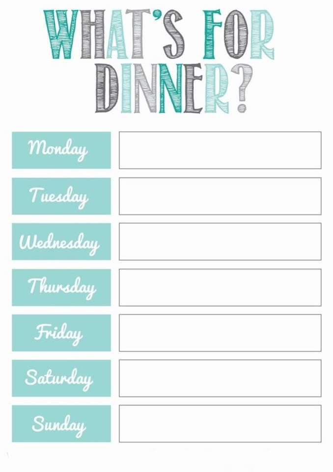 Notepad idea Cookbook\/Shutterfly Ideas Pinterest Photography - sample weekly budget
