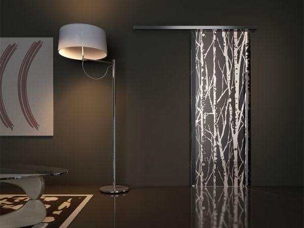 Schiebetür glas design  OTC Design SChiebetür Schwarze Wand | Bathroom ideas | Pinterest ...