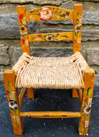 Vintage Childs Chair Mexico Mexican Folk Art Furniture