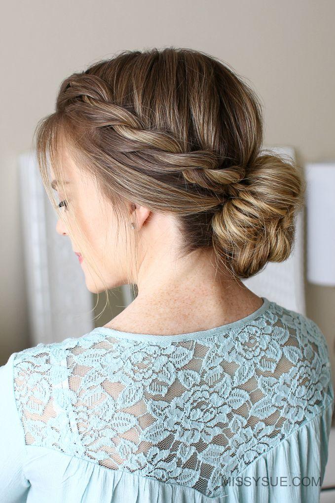 3 Easy Rope Braid Hairstyles Missy Sue Rope Braided Hairstyle Cool Braid Hairstyles Braided Hairstyles Easy