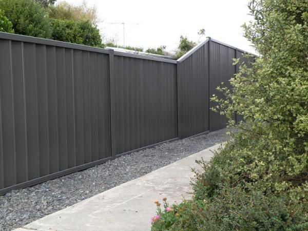 dark grey fence paint google search house exterior. Black Bedroom Furniture Sets. Home Design Ideas