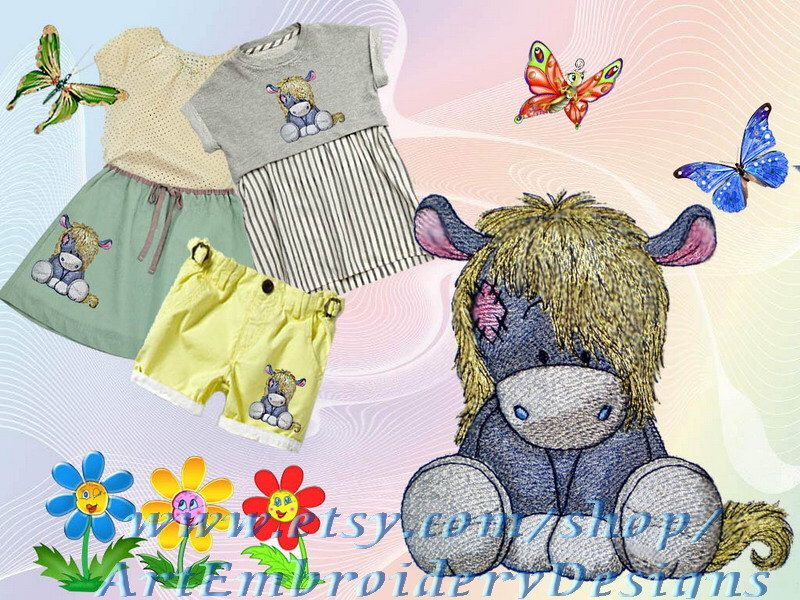 Pony Soprano Machine Embroidery Design For A Baby And Children Of