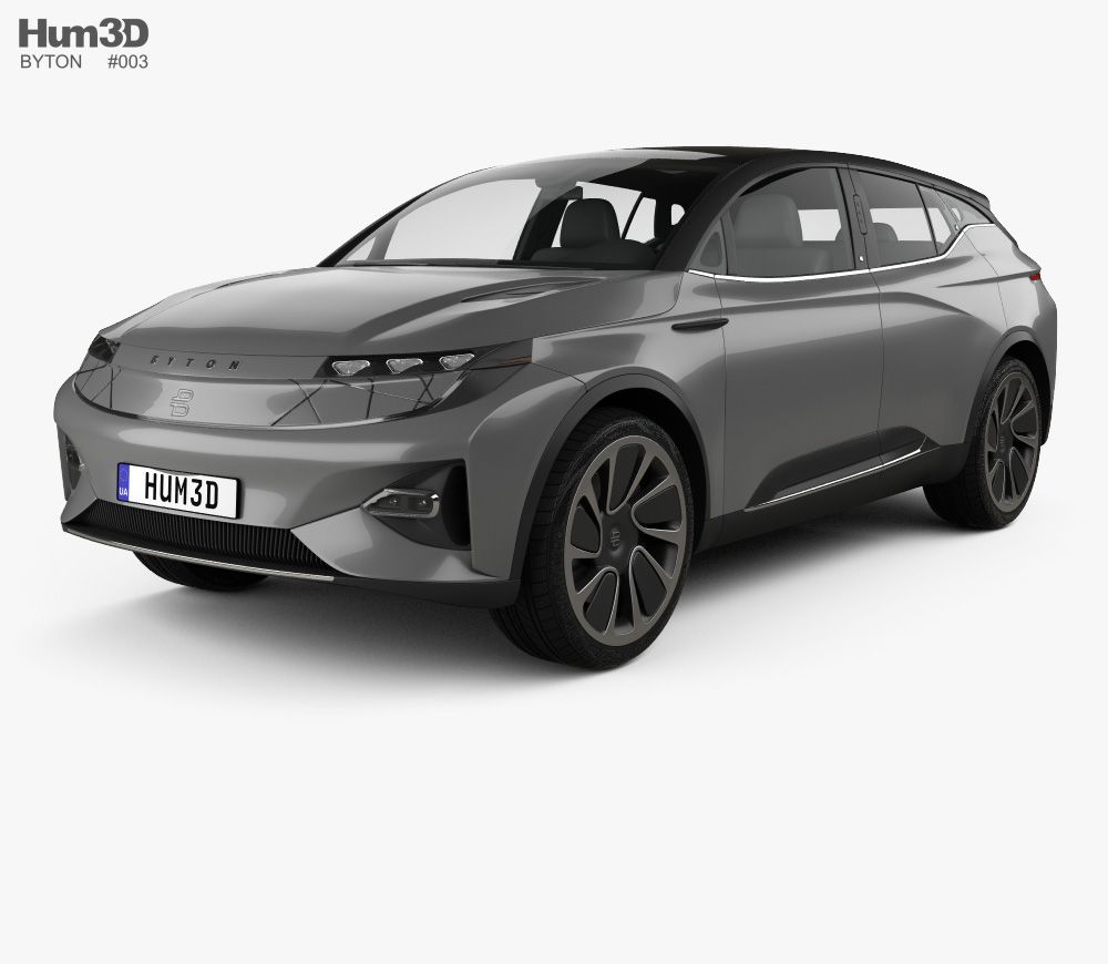 3d Model Of Byton M Byte 2020 With Images 3d Model Model Car