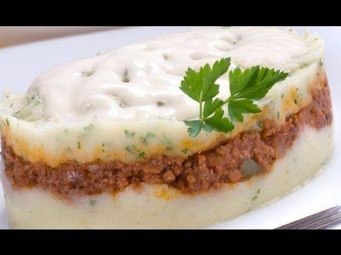Pastel De Pure Con Carne Pastel De Patatas Patatas Recetas De Pasteles