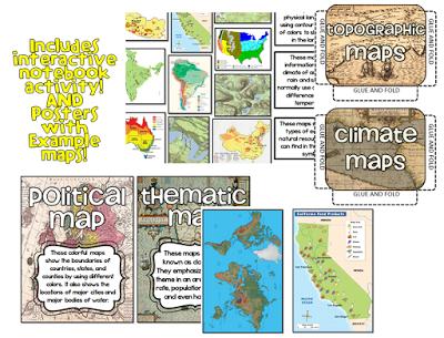 44+ Types of maps worksheet Education