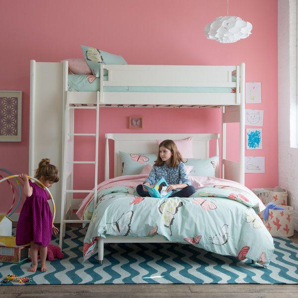 Dwellstudio Mid Century Loft Bed With Full Bed Loft Bed Kids
