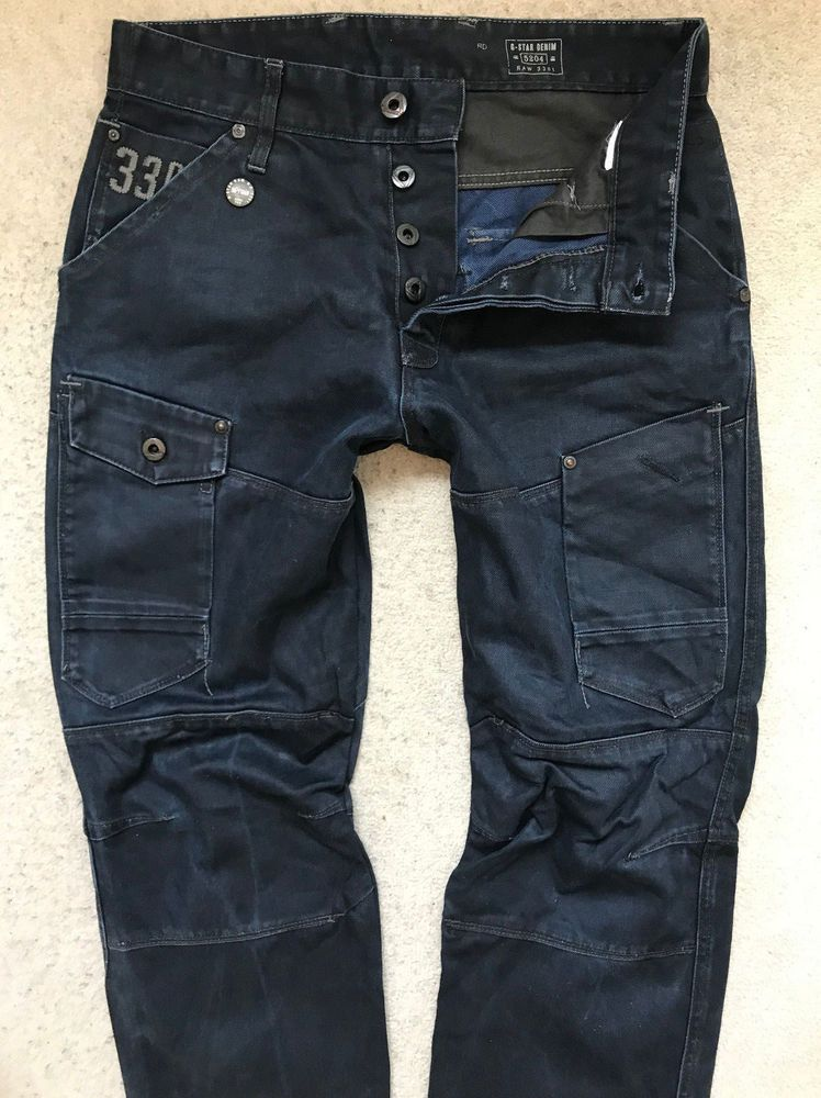G STAR RAW DENIM JEANS! MENS W30L32! DARK BLUE REGULAR