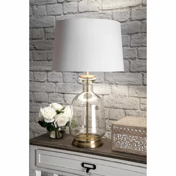 Brushgrove 24 Table Lamp In 2020 Clear Glass Table Lamp Gold Table Lamp Table Lamp