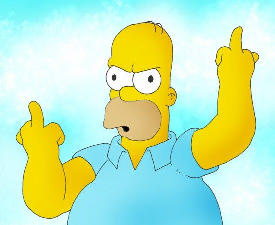 Can You Flip The Bird When You Have Only 4 Fingers Yes Emoji Symbols Funny Pictures Homer Simpson