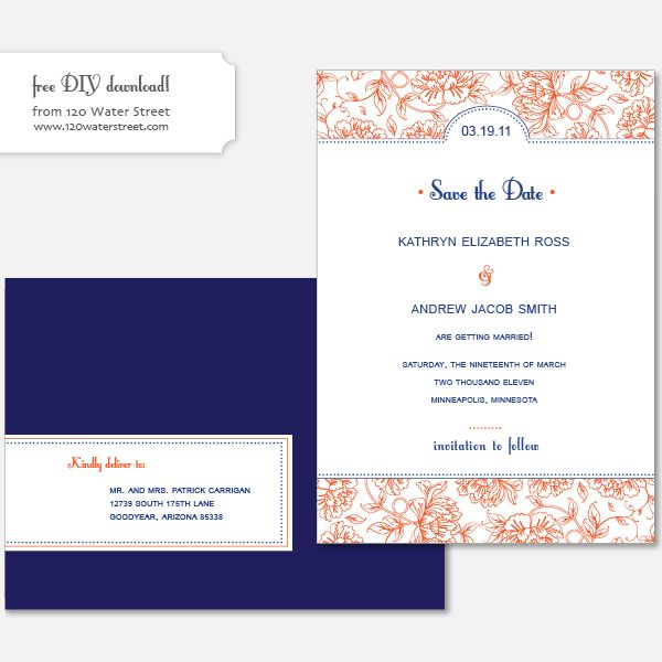 Weekly Roundup + Free Download Wedding and Weddings - Formal Invitation Letters