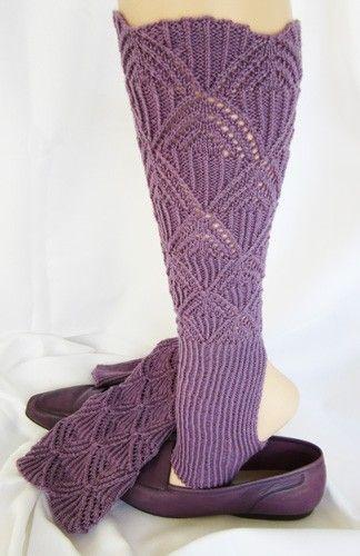 Austrian Lace Stirrup Leg Warmers Pattern By Jackie E S Knitting