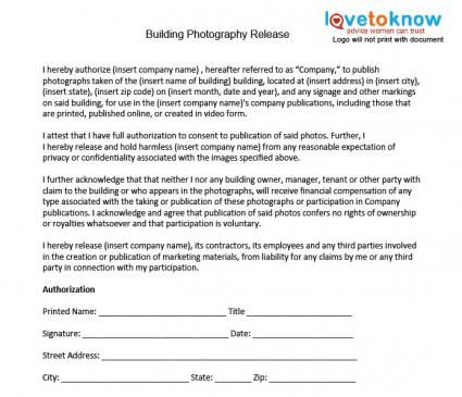 Photography Release Forms  Photography    Photography