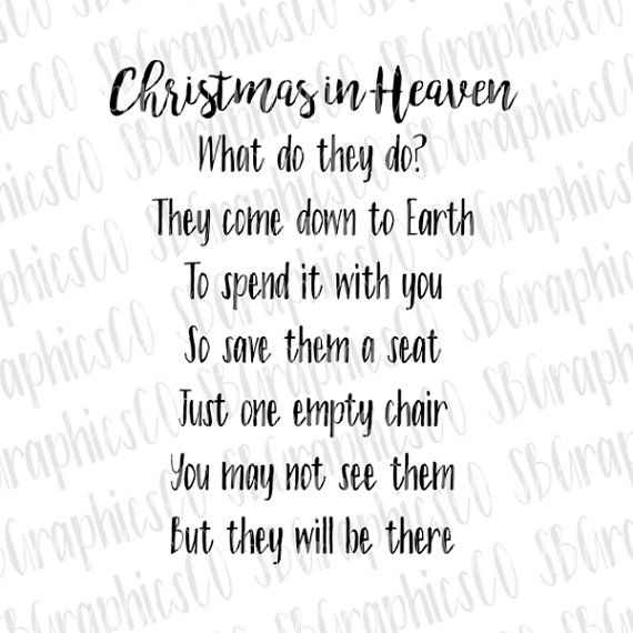 Christmas In Heaven Poem Svg.Pin By Jillian Bragg On Craft Ideas Christmas In Heaven