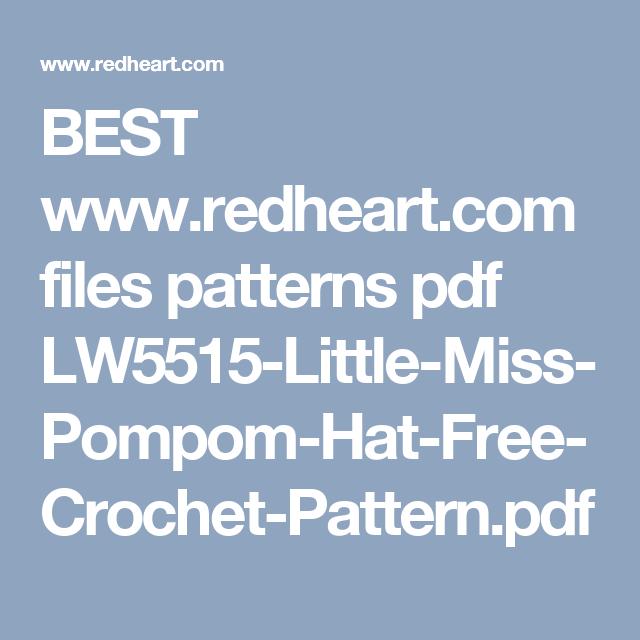 BEST www.redheart.com files patterns pdf LW5515-Little-Miss-Pompom ...