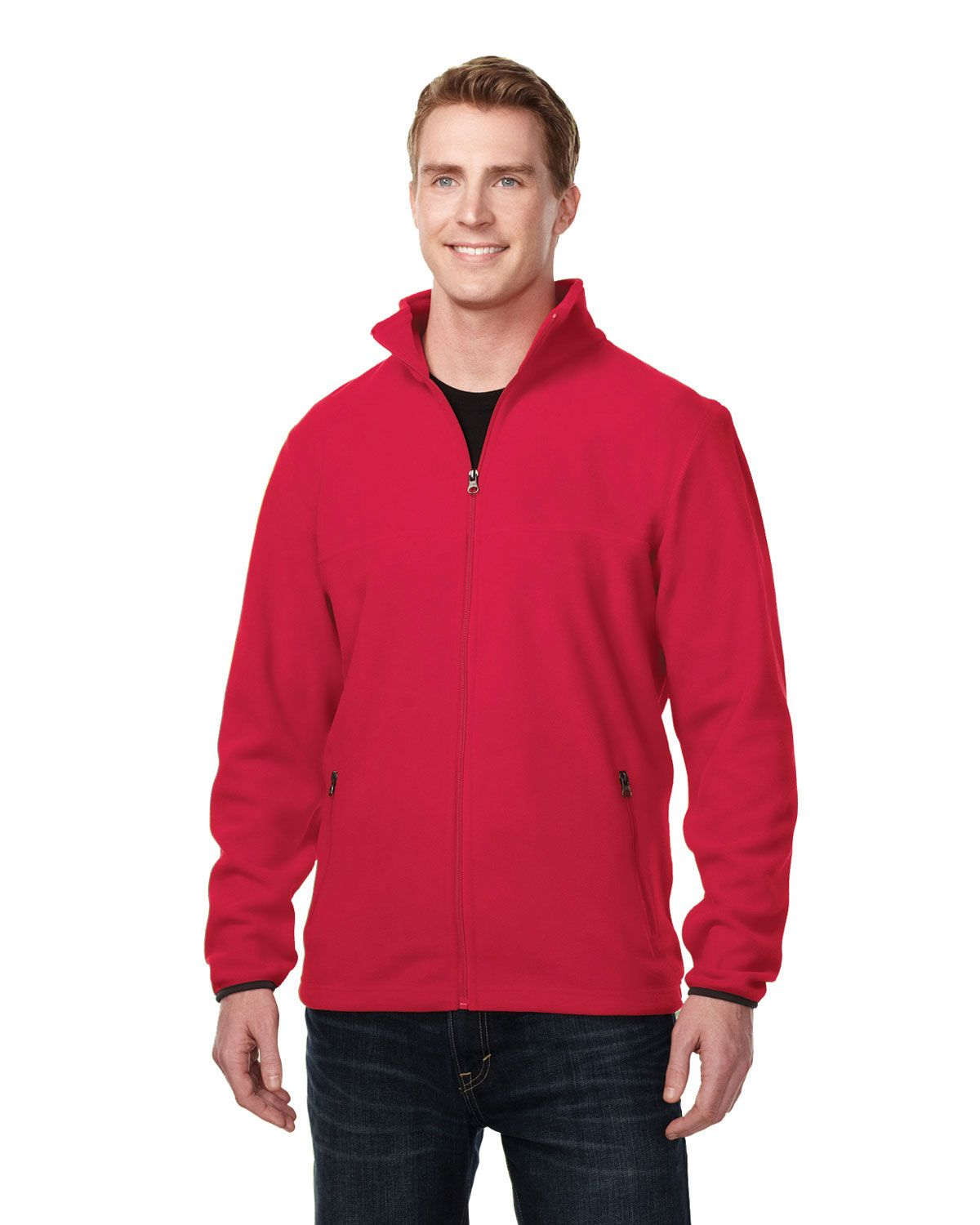 Mens polar slash zippered fleece jacket with pockets. Tri mountain F7608 #bachlor #greatoffer #comfortable