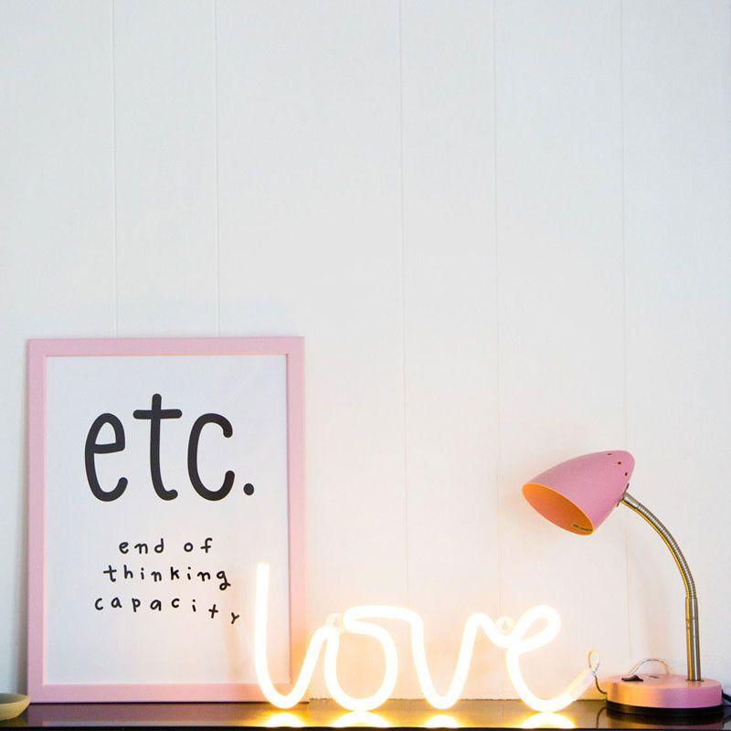 LED Neon Style Lampe Love, gelb Mal wieder ein mit Liebe gestaltetes ...