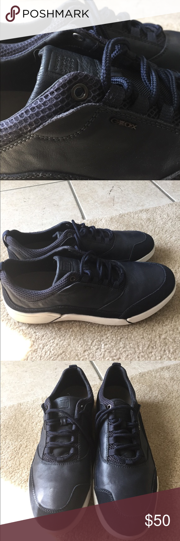 f12bf964a5 GEOX RESPIRA shoes size 12.5 Breathable,comfortable,antibacterial. ITALIAN  PATENT.like new condition.leather and suede.great shoes. Geox Shoes