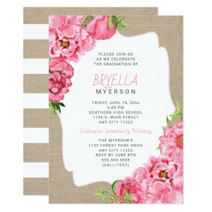 Pink floral graduation ceremony party invitations pink floral graduation ceremony party invitations graduation party invitations cards custom invitation card design party filmwisefo