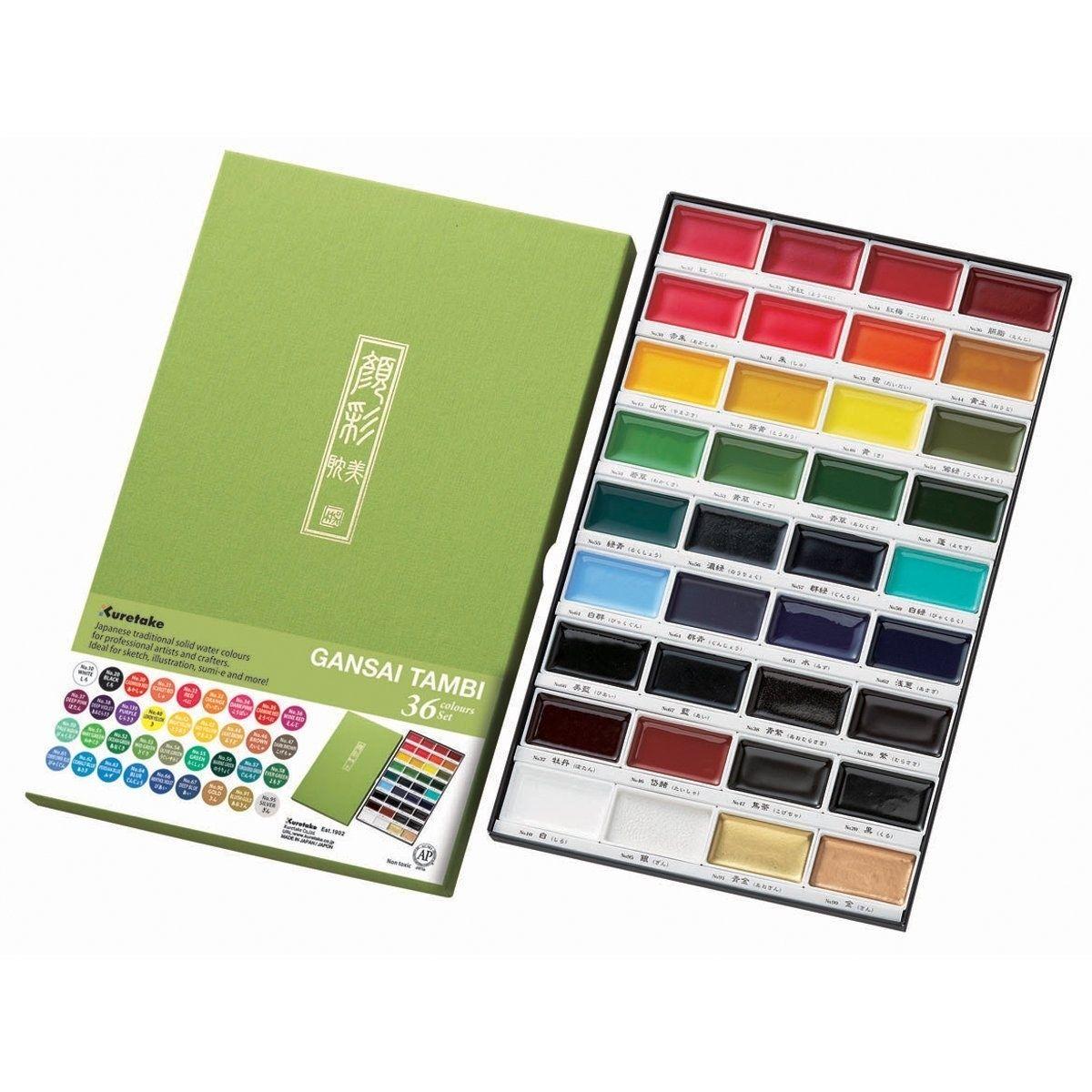 Kissoh Gansai 72 Color Japanese Watercolor Paint Set Watercolor