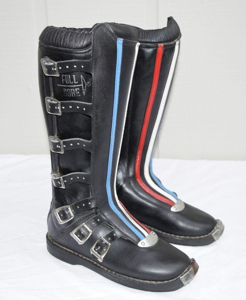 Vintage Sidi Sport Motocross Motorcycle Boots Ahrma Full