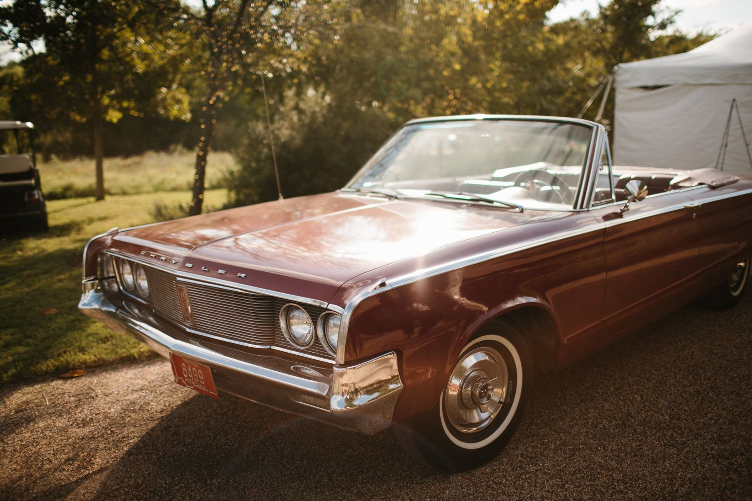Romantic Floral Fall wedding. Vintage get a way car. Rent My Dust ...