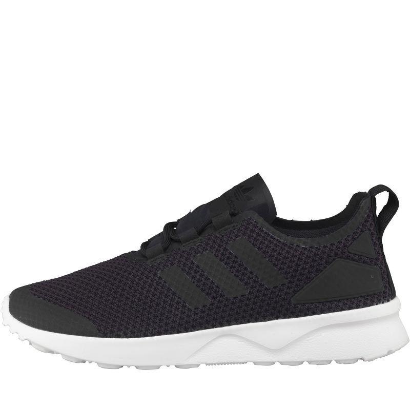 8138402125e92 adidas Originals Womens ZX Flux ADV Verve Trainers Core Black Core Black  White