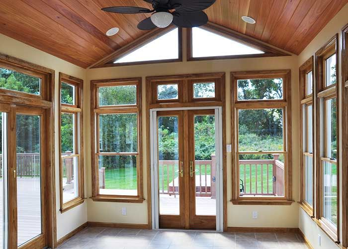 Existing Deck Was Removed To Build This Lovely Sunroom With New Gaf