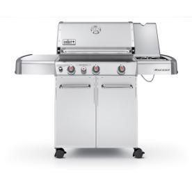Weber Genesis 3 Burner 38 000 Btu Liquid Propane Gas Grill With Side Burner 949 Natural Gas Grill Best Gas Grills Gas Grill