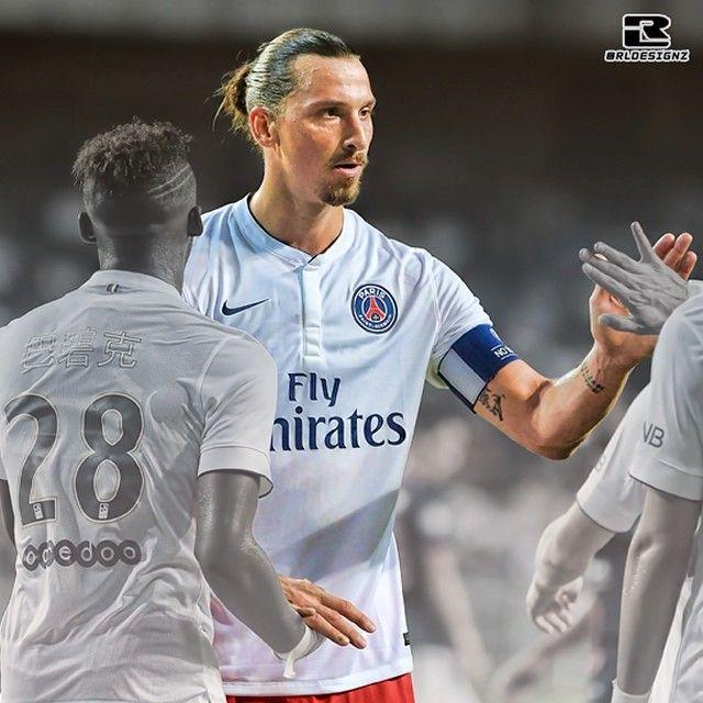 Zlatan Ibrahimovic Scored A Hat Trick As Psg Enjoyed A 6 2 Victory Over Hong Kong Outfit Kitchee Mens Tshirts Mens Tops Mens Graphic Tshirt
