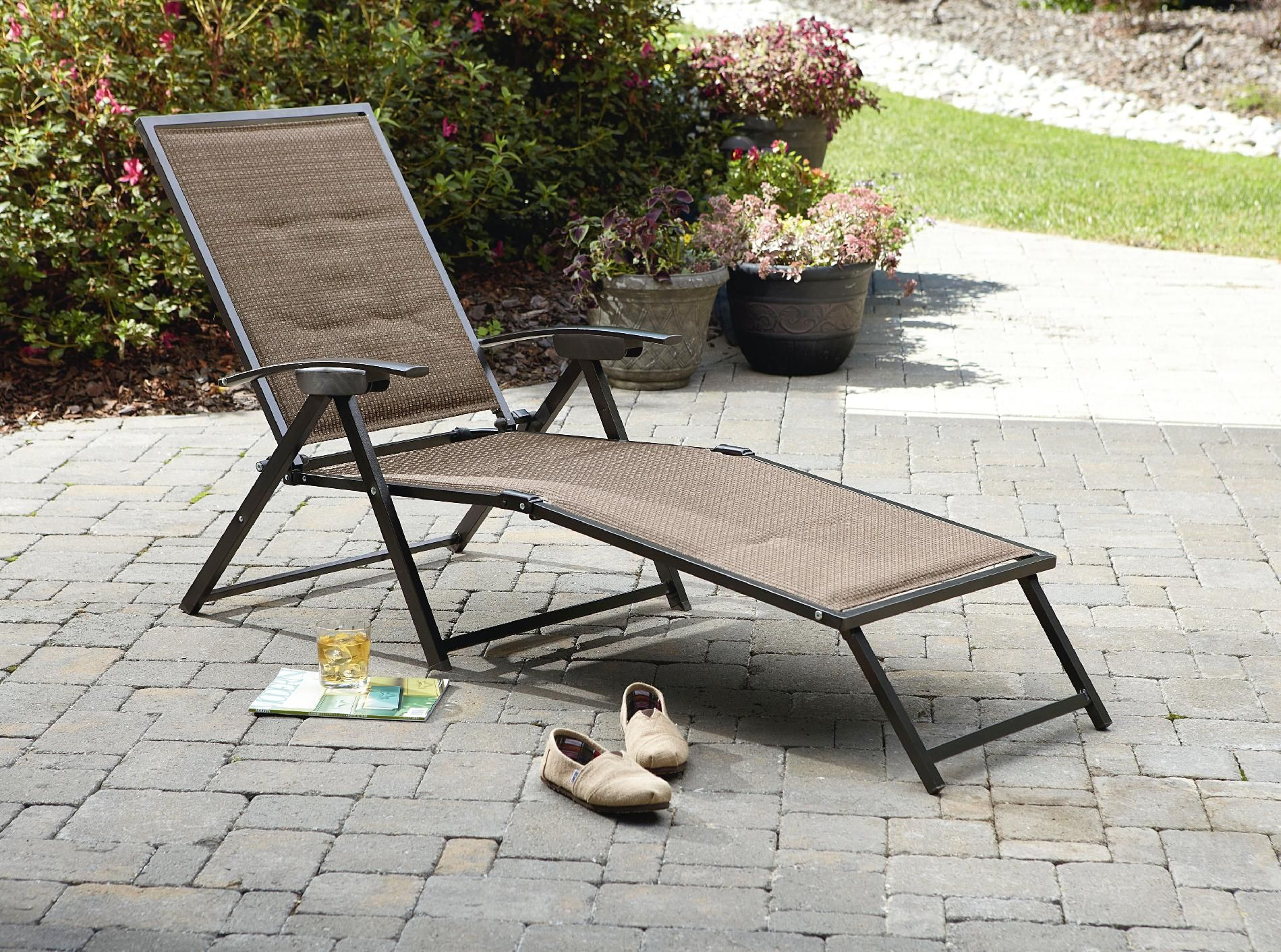 Harrison Matching Folding Padded Sling Chaise Sears $57
