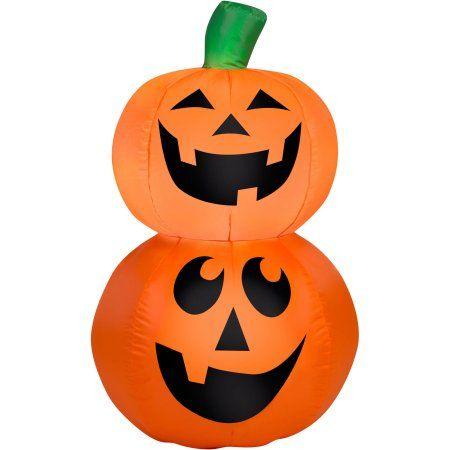 Gemmy Airblown Inflatable 35\u0027 X 25\u0027 Pumpkin Stack Halloween - halloween decorations at walmart