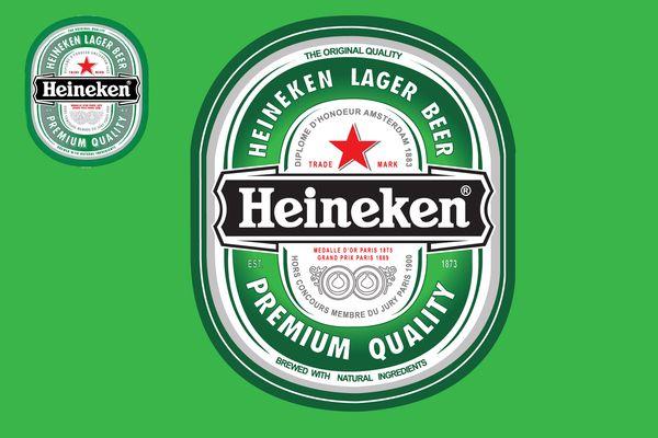 Heineken Beer Label