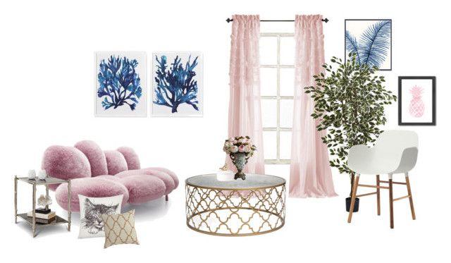 """Springly"" by naleland on Polyvore featuring interior, interiors, interior design, dom, home decor, interior decorating, Ballard Designs, M&Co, Americanflat i Barclay Butera"